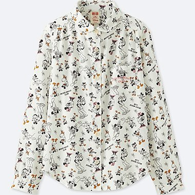 GIRLS DISNEY COLLECTION FLANNEL LONG SLEEVE SHIRT