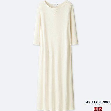 WOMEN INES DOUBLE FACE 3/4 SLEEVE DRESS