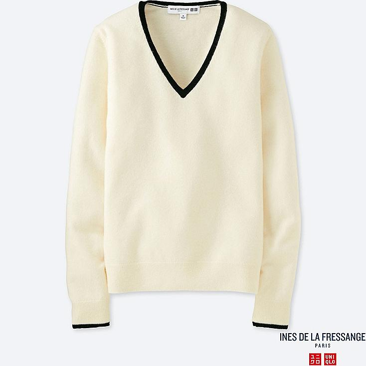 WOMEN INES CASHMERE V NECK SWEATER