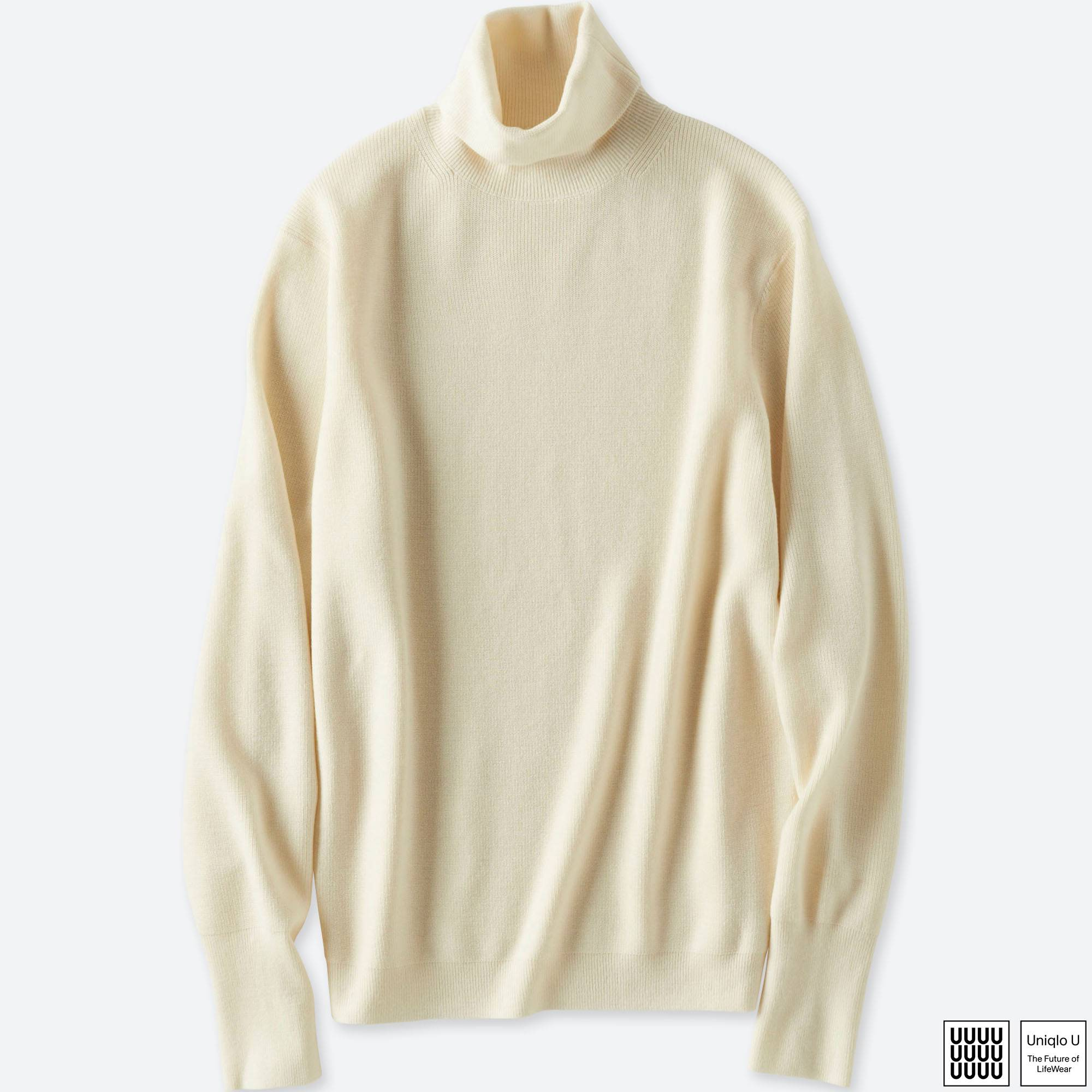 MEN U MERINO-BLEND TURTLENECK LONG-SLEEVE SWEATER | UNIQLO US