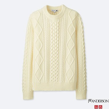 MEN J.W.ANDERSON CABLE CREWNECK LONG-SLEEVE SWEATER