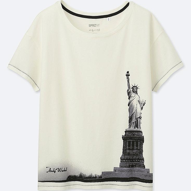 WOMEN SPRZ NY SHORT-SLEEVE GRAPHIC T-SHIRT (Andy Warhol), OFF WHITE, large