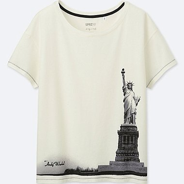 WOMEN SPRZ NY SHORT-SLEEVE GRAPHIC T-SHIRT (Andy Warhol), OFF WHITE, medium