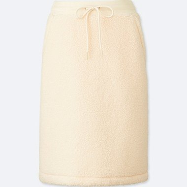 WOMEN BLOCKTECH FLEECE PILE LINED SKIRT
