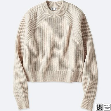 WOMEN UNIQLO U CHUNKY RIBBED MOCK NECK SWEATER