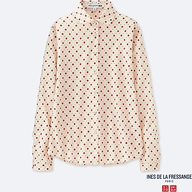 WOMEN INES COTTON LAWN PRINTED LONG SLEEVE SHIRT