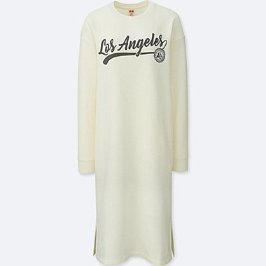 WOMEN MICKEY TRAVELS SWEAT LONG SLEEVE DRESS