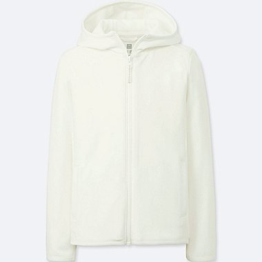 KIDS DRY-EX UV CUT HOODIE, OFF WHITE, medium