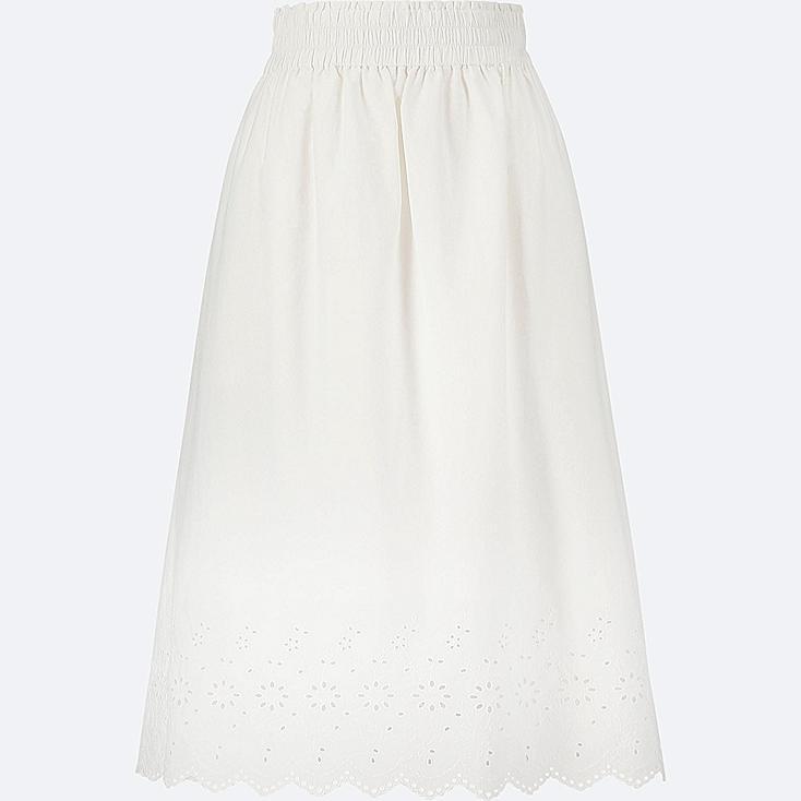 Cotton Eyelet Skirt