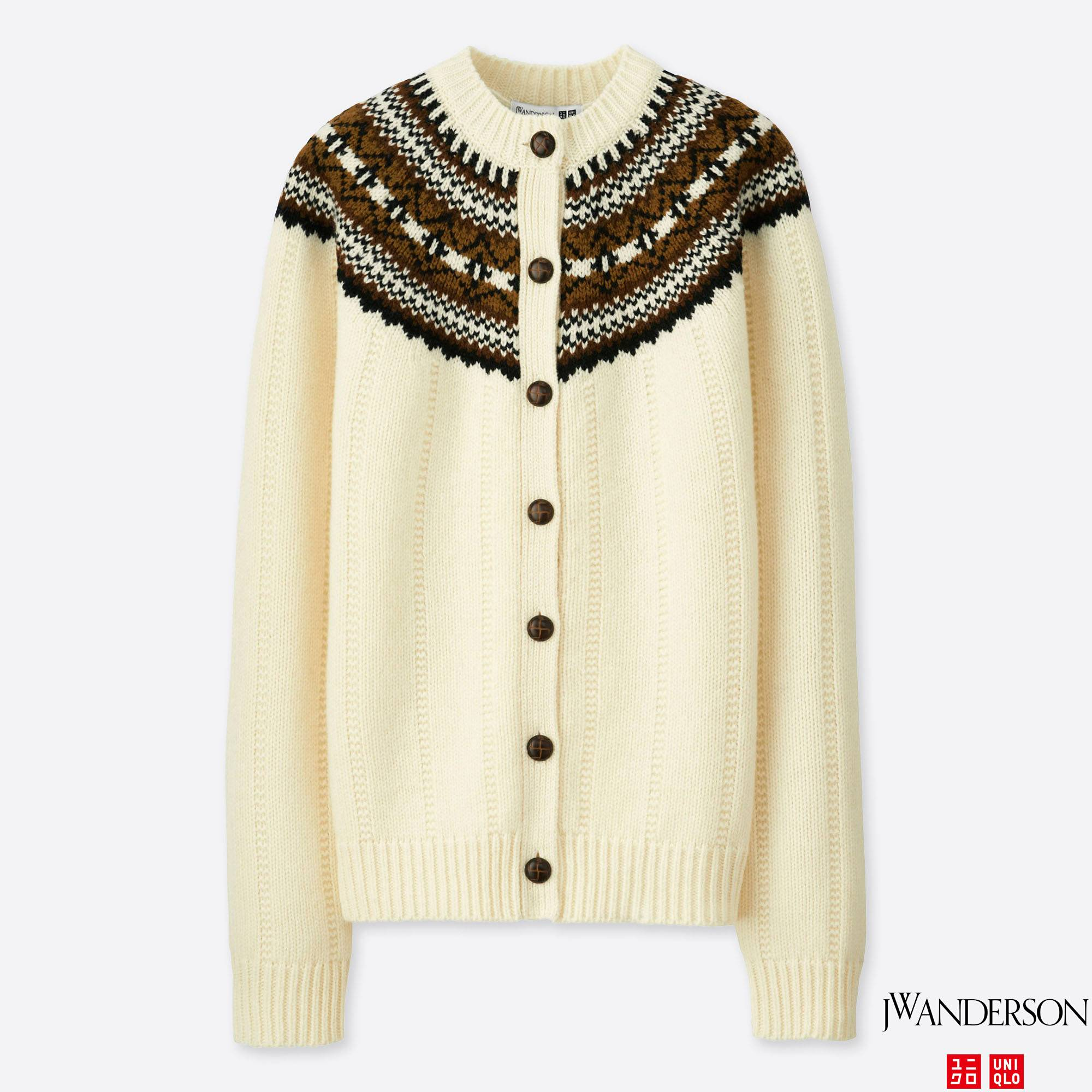 WOMEN JWA FAIR ISLE CREWNECK CARDIGAN | UNIQLO US