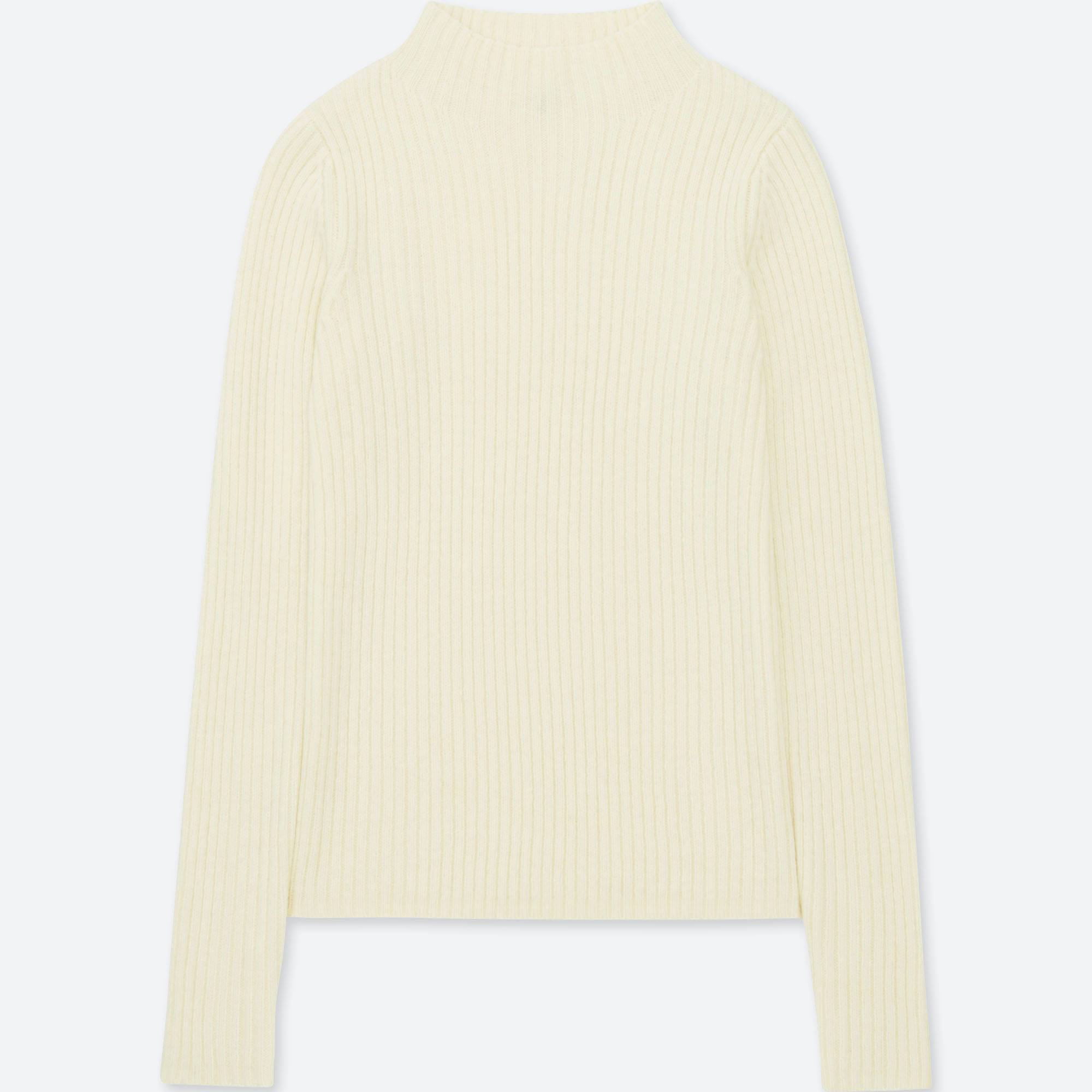 WOMEN RIBBED MOCK NECK SWEATER | UNIQLO US