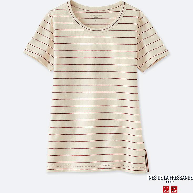 INES - T-SHIRT JERSEY RAYÉ COL ROND FEMME