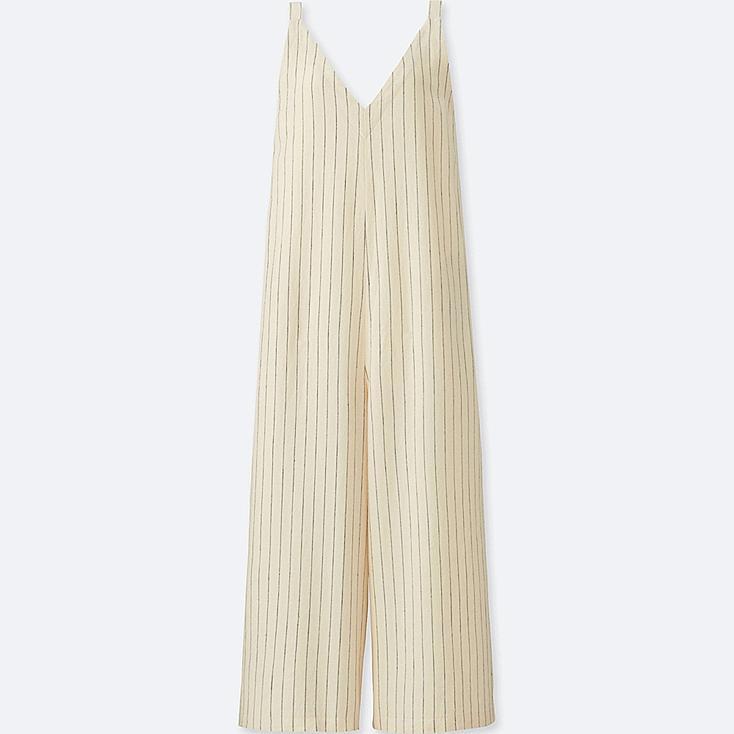 WOMEN Linen Rayon Sleeveless Jumpsuit