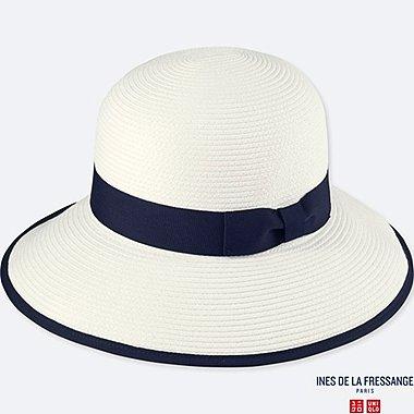 WOMEN IDLF PAPER CAPELINE HAT, OFF WHITE, medium