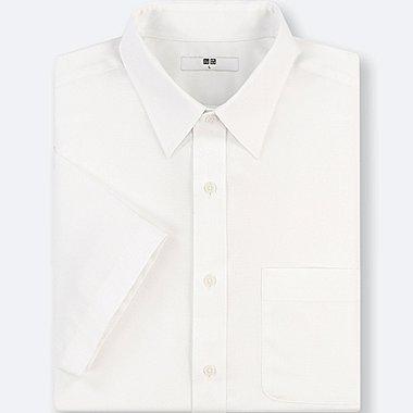 MEN DRY EASY CARE DOBBY SHORT-SLEEVE SHIRT (ONLINE EXCLUSIVE), OFF WHITE, medium
