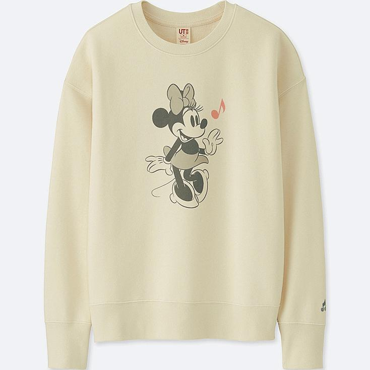 WOMEN SOUNDS OF DISNEY LONG-SLEEVE PULLOVER SWEATSHIRT, OFF WHITE, large