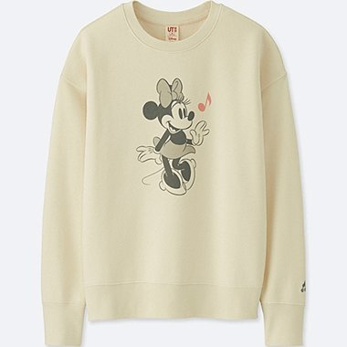 WOMEN SOUNDS OF DISNEY LONG-SLEEVE PULLOVER SWEATSHIRT, OFF WHITE, medium