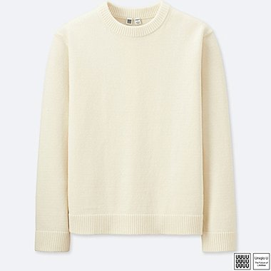 MEN UNIQLO U 100% COTTON CREW NECK LONG SLEEVE SWEATER