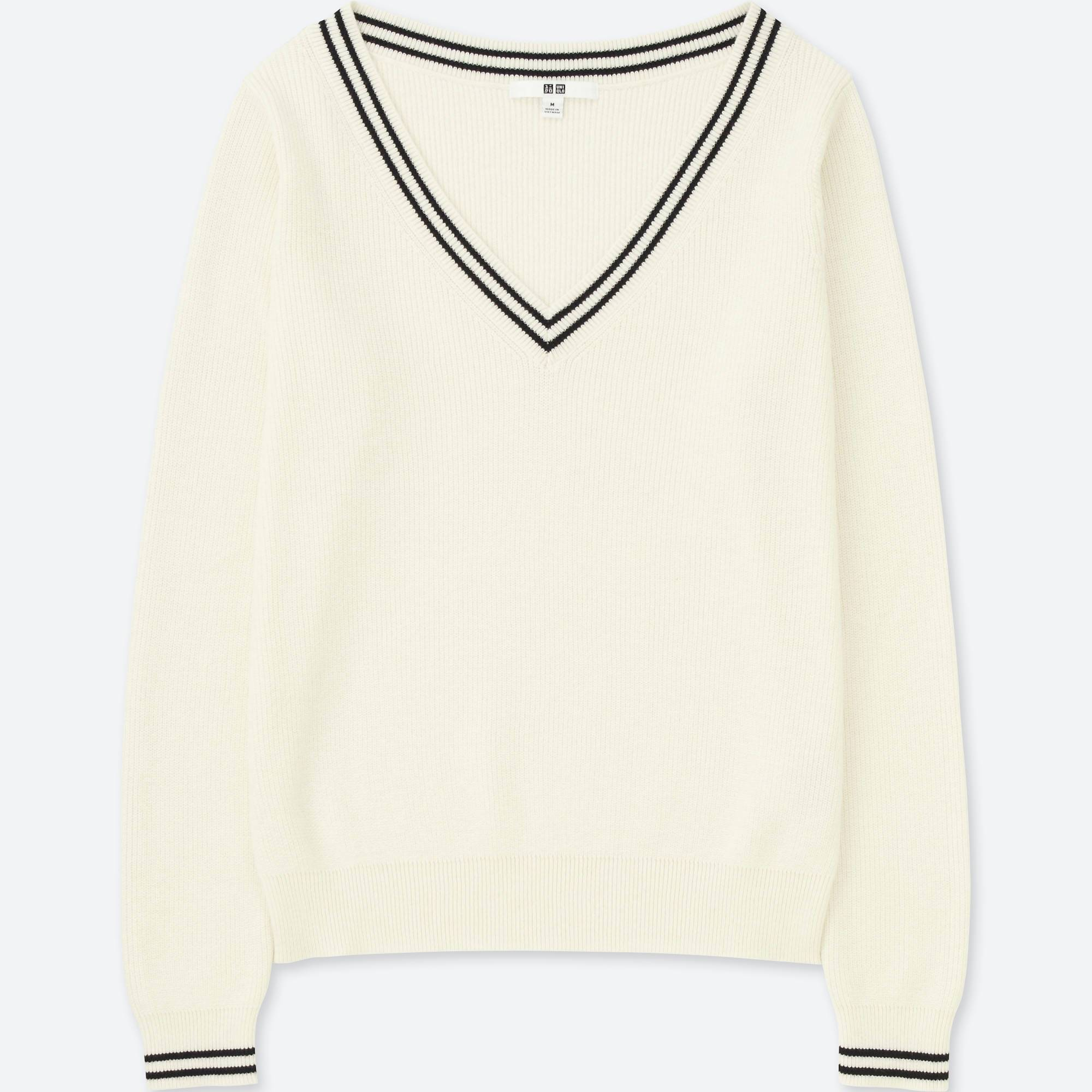 WOMEN COTTON CASHMERE MIDDLE GAUGE CRICKET SWEATER | UNIQLO US