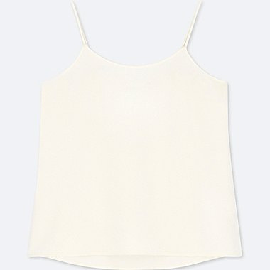 WOMEN DRAPE CAMISOLE, OFF WHITE, medium