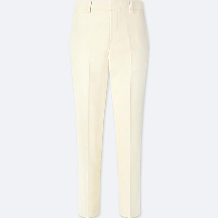 WOMEN EZY ANKLE-LENGTH PANTS, OFF WHITE, large