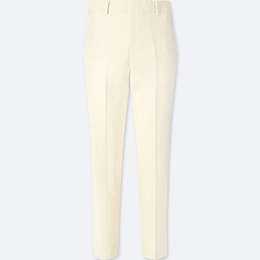 WOMEN EZY ANKLE-LENGTH PANTS, OFF WHITE, medium