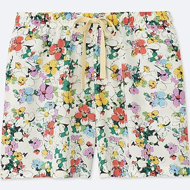 WOMEN FLORAL RELACO SHORTS, OFF WHITE, medium