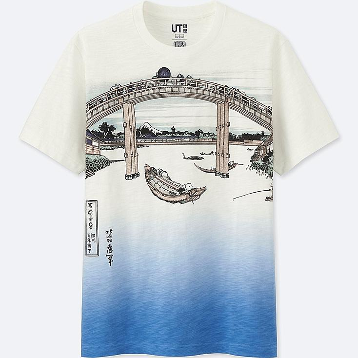 HOKUSAI BLUE SHORT-SLEEVE GRAPHIC T-SHIRT, OFF WHITE, large