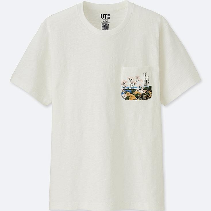HOKUSAI BLUE UT (SHORT-SLEEVE GRAPHIC T-SHIRT), OFF WHITE, large