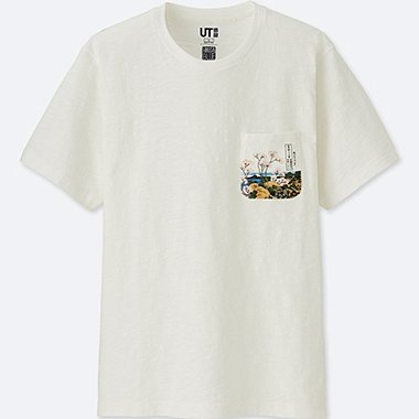 MEN Hokusai Blue Short Sleeve Graphic T-Shirt