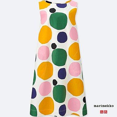 WOMEN MARIMEKKO GRAPHIC SLEEVELESS DRESS, OFF WHITE, medium