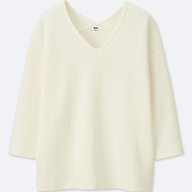WOMEN Milano Ribbed 3/4 Sleeve Pullover