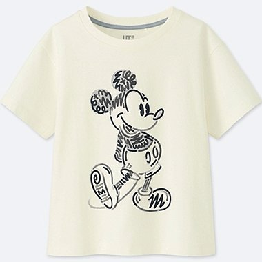 KIDS LOVE & MICKEY MOUSE COLLECTION GRAPHIC T-SHIRT, OFF WHITE, medium