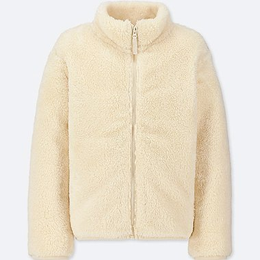 KIDS FLUFFY YARN FLEECE LONG SLEEVE JACKET