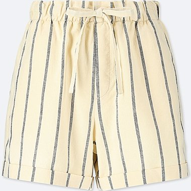 WOMEN COTTON LINEN RELAXED SHORTS