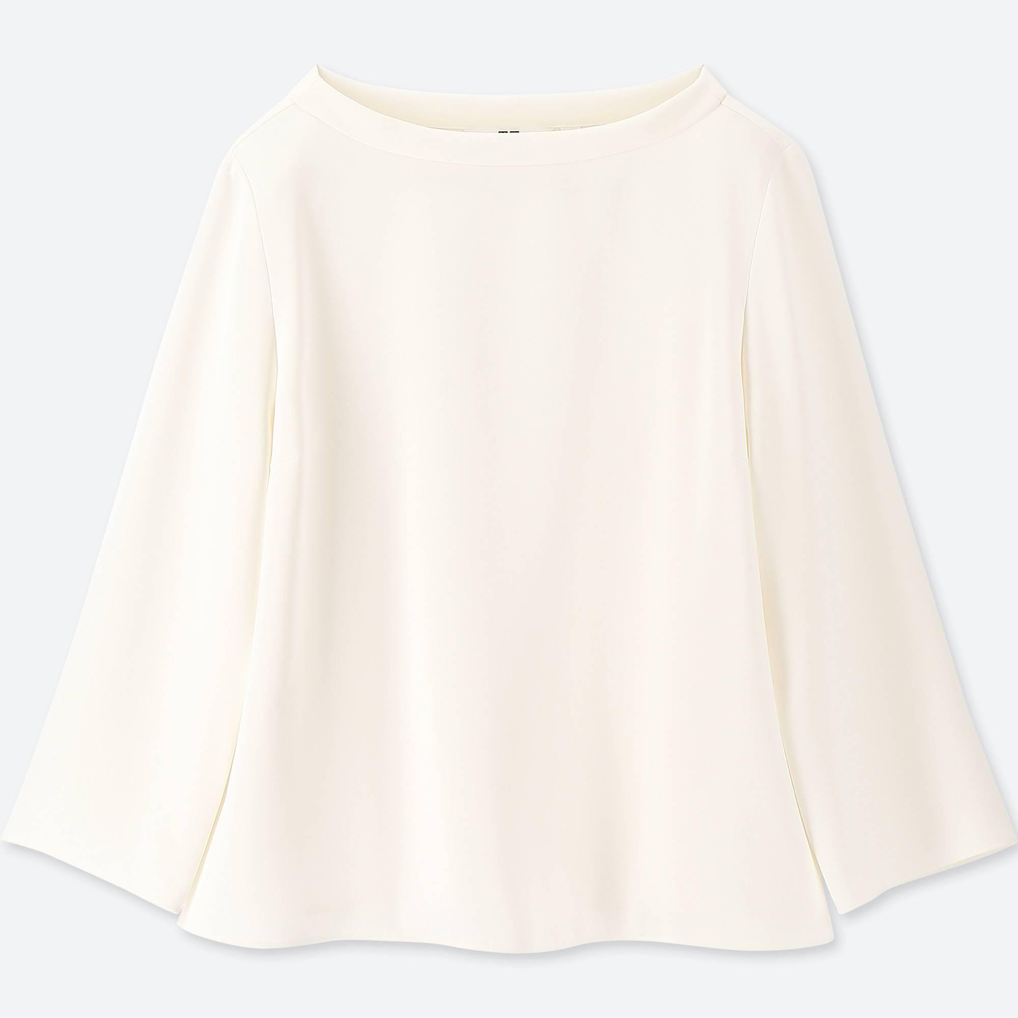 UNIQLO / Shirts And Blouses women drape 3/4 sleeve t-shirt blouse
