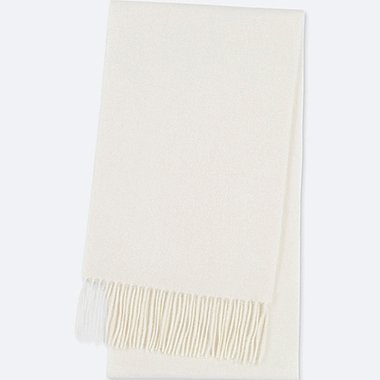 CASHMERE SCARF, OFF WHITE, medium