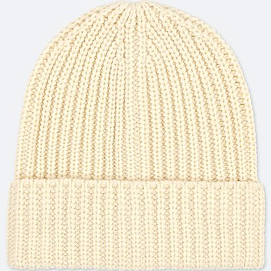 HEATTECH KNITTED CAP, OFF WHITE, medium