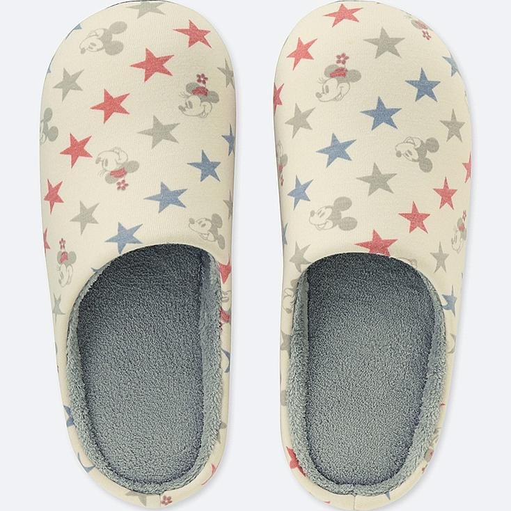 DISNEY HOLIDAY COLLECTION SLIPPERS, OFF WHITE, large
