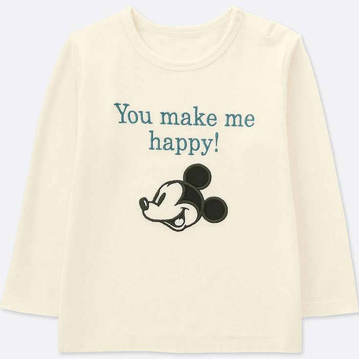 TODDLER DISNEY COLLECTION CREW NECK LONG-SLEEVE T-SHIRT, OFF WHITE, large
