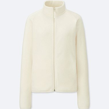 WOMEN FLEECE LONG-SLEEVE FULL-ZIP JACKET (ONLINE EXCLUSIVE), OFF WHITE, medium