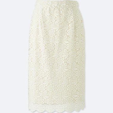 WOMEN LACE SKIRT (ONLINE EXCLUSIVE), OFF WHITE, medium