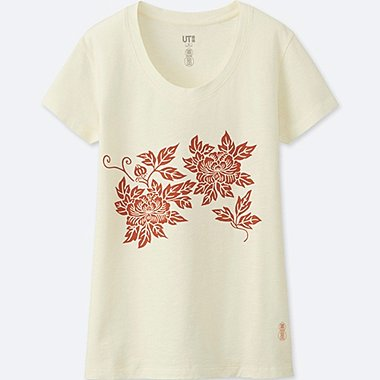 WOMEN KARAKAMI KARACHO SHORT-SLEEVE GRAPHIC T-SHIRT, OFF WHITE, medium