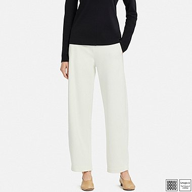 WOMEN UNIQLO U PONTE WIDE TROUSERS