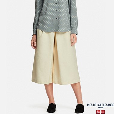 WOMEN COTTON CULOTTES (INES DE LA FRESSANGE), OFF WHITE, medium