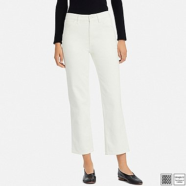 WOMEN UNIQLO U HIGH RISE STRAIGHT ANKLE JEANS