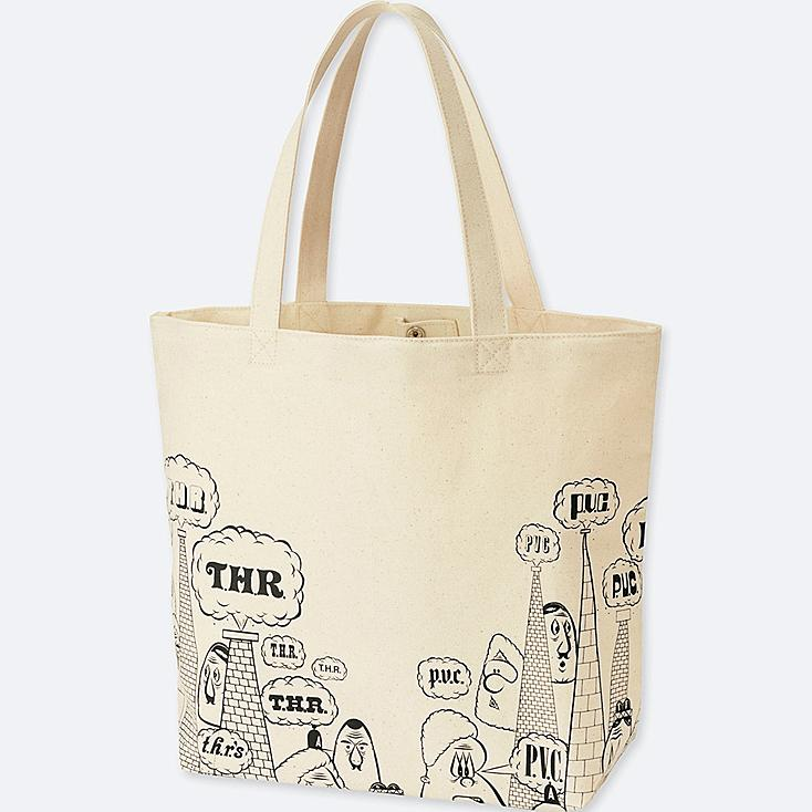 SPRZ NY BARRY MCGEE TOTE BAG, OFF WHITE, large