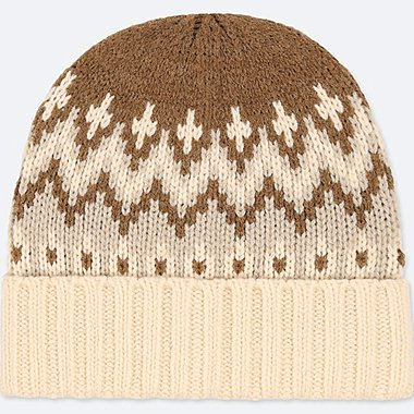 KIDS HEATTECH KNITTED CAP, OFF WHITE, medium