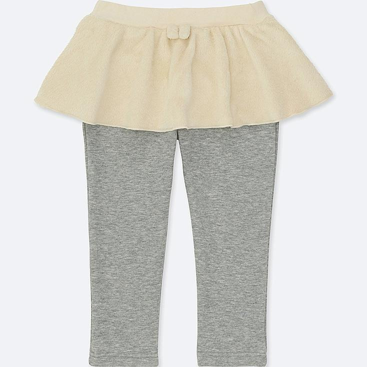 TODDLER PILE-LINED SKIRT PANTS, OFF WHITE, large