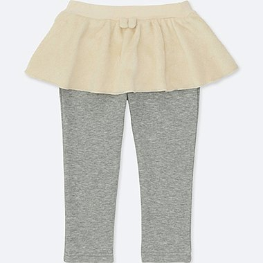 TODDLER PILE-LINED SKIRT PANTS, OFF WHITE, medium